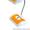 Настольная лампа светильник с аккумулятором оранжевая. #1193332