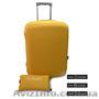 чехол на чемодан желтый Coverbag